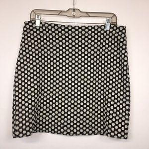 Liz Claiborne Black White Polka Dot Mini Skirt